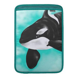 かわいいシャチのクジラ MacBook スリーブ