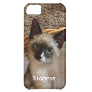 かわいいシャム猫 iPhone5Cケース