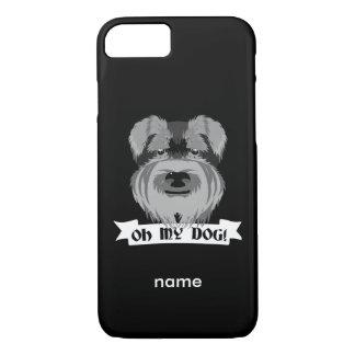 かわいいシュナウツァーOh私の犬 iPhone 8/7ケース
