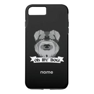 かわいいシュナウツァーOh私の犬 iPhone 8 Plus/7 Plusケース