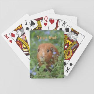 かわいいショウガのモルモットのcavyが付いているカードを遊ぶこと トランプ