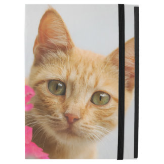 """かわいいショウガ猫の子ネコの監視ポートレートは保護します iPad PRO 12.9"""" ケース"""