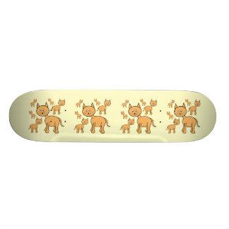 かわいいショウガ猫。 オレンジ猫の漫画 20.6CM スケートボードデッキ
