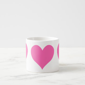 かわいいショッキングピンクのハート エスプレッソカップ