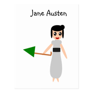 かわいいジェーンAusten ポストカード