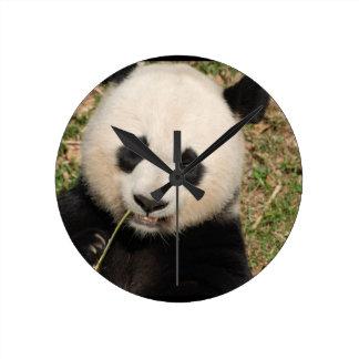 かわいいジャイアントパンダくま ラウンド壁時計