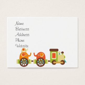 かわいいジャングルサファリ動物の列車のギフトの子供のベビー 名刺