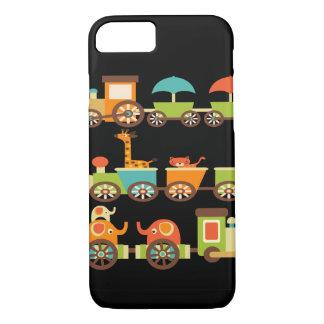 かわいいジャングルサファリ動物の列車のギフトの子供のベビー iPhone 8/7ケース