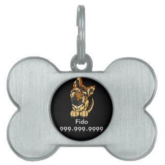 かわいいジャーマン・シェパード犬の芸術 ペットネームタグ