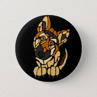 かわいいジャーマン・シェパード犬の芸術 5.7CM 丸型バッジ
