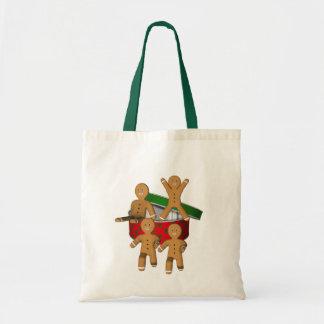 かわいいジンジャーブレッドのクッキーの人のクリスマスの休日 トートバッグ