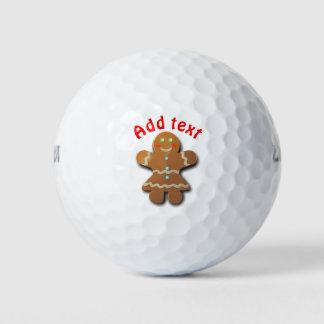 かわいいジンジャーブレッドのクッキー ゴルフボール