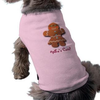 かわいいジンジャーブレッドのクッキー ペット服
