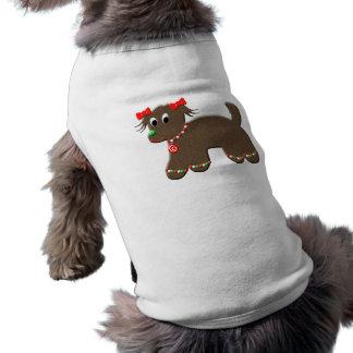かわいいジンジャーブレッドの小犬のクリスマス ペット服