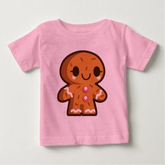 かわいいジンジャーブレッドマンのクリスマスのベビーのワイシャツ ベビーTシャツ