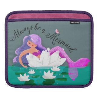 かわいいスイレンの人魚のiPadの袖 iPadスリーブ