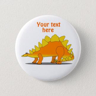 かわいいステゴサウルスの恐竜の漫画のテンプレート 5.7CM 丸型バッジ
