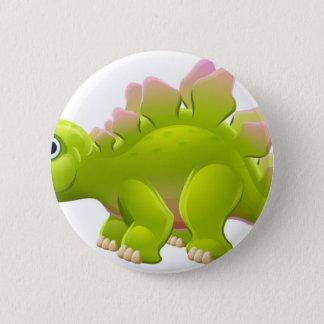 かわいいステゴサウルスの漫画の恐竜 5.7CM 丸型バッジ