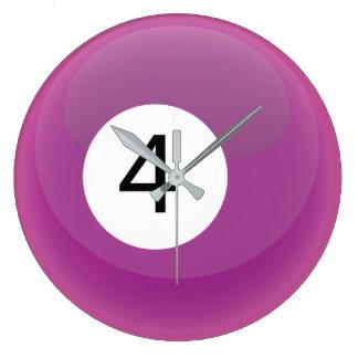 かわいいスヌーカーのプールのビリヤードボール ラージ壁時計