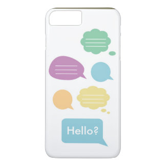 かわいいスピーチの泡 iPhone 8 PLUS/7 PLUSケース