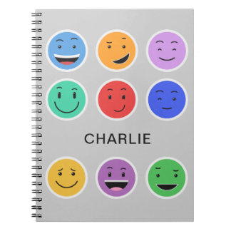 かわいいスマイリーの名前をカスタムするのノート ノートブック