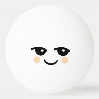 かわいいスマイリーフェイス1の星のピンポン球 卓球 ボール