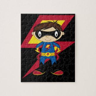 かわいいスーパーヒーローの男の子 ジグソーパズル
