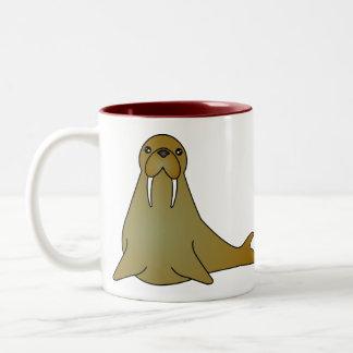 かわいいセイウチの漫画 ツートーンマグカップ