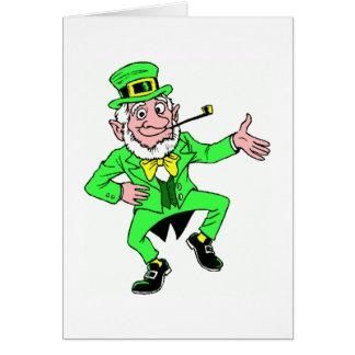 かわいいセントパトリックの日|のアイルランドの小妖精 カード