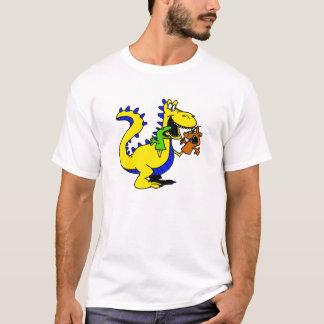 かわいいソックスのパペットが付いている間抜けなドラゴン Tシャツ