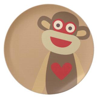 かわいいソックス猿 プレート