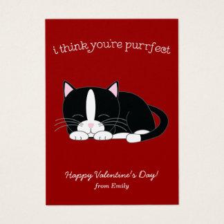 かわいいタキシード猫の教室のバレンタイン 名刺