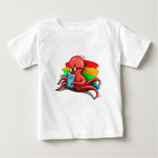 かわいいタコ ベビーTシャツ