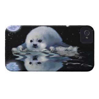かわいいタテゴトアザラシ及び浮氷の動物愛好家の例 Case-Mate iPhone 4 ケース