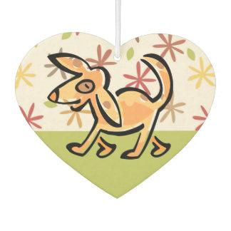 かわいいタンの漫画犬、歩行の犬 カーエアーフレッシュナー