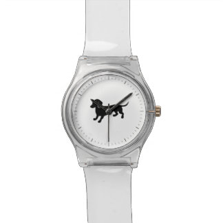 かわいいダックスフントのスケッチ 腕時計