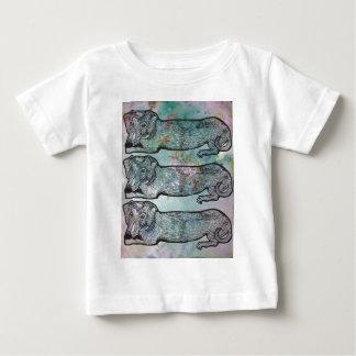 かわいいダックスフント ベビーTシャツ