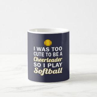 かわいいチアリーダーのソフトボール コーヒーマグカップ