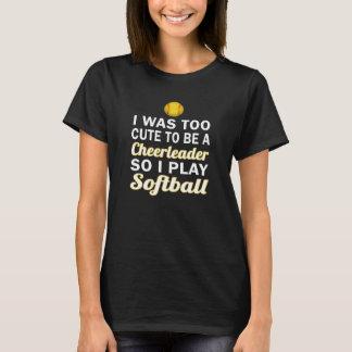 かわいいチアリーダーのソフトボール Tシャツ