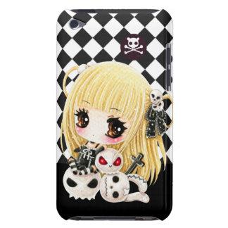 かわいいチビ(小さくかわいく書いた感じ)の女の子およびかわいいのスカル Case-Mate iPod TOUCH ケース