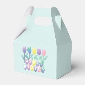 かわいいチューリップのハッピーイースターは好意箱に卵を投げつけます フェイバーボックス