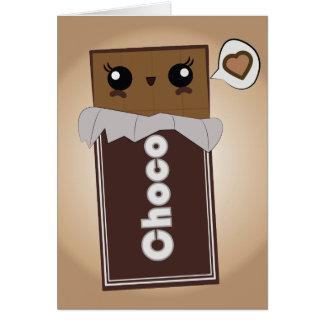 かわいいチョコレート・バー カード