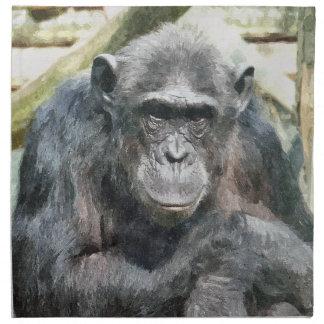 かわいいチンパンジー ナプキンクロス