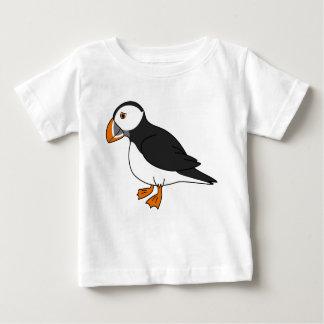 かわいいツノメドリ ベビーTシャツ
