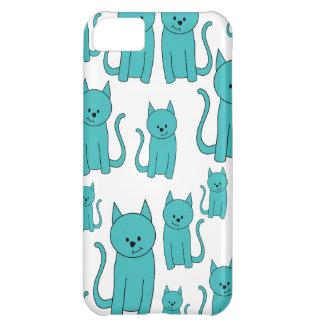 かわいいティール(緑がかった色)猫 iPhone5Cケース