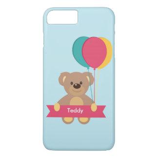 かわいいテディー・ベア名前入りな一流のToug iPhone 8 Plus/7 Plusケース