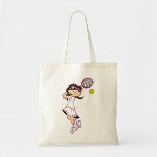 かわいいテニスの女の子のトートバック トートバッグ
