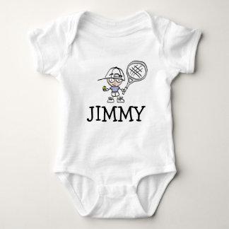かわいいテニスの漫画が付いている男の子のベビーのボディスーツ ベビーボディスーツ