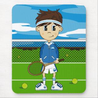 かわいいテニスの男の子のマウスパッド マウスパッド