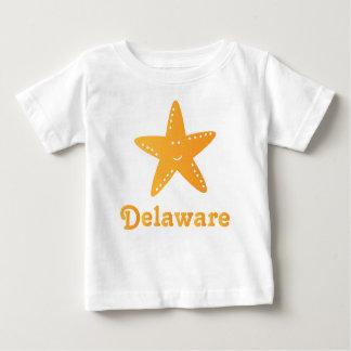 かわいいデラウェア州ヒトデのベビーのTシャツ ベビーTシャツ